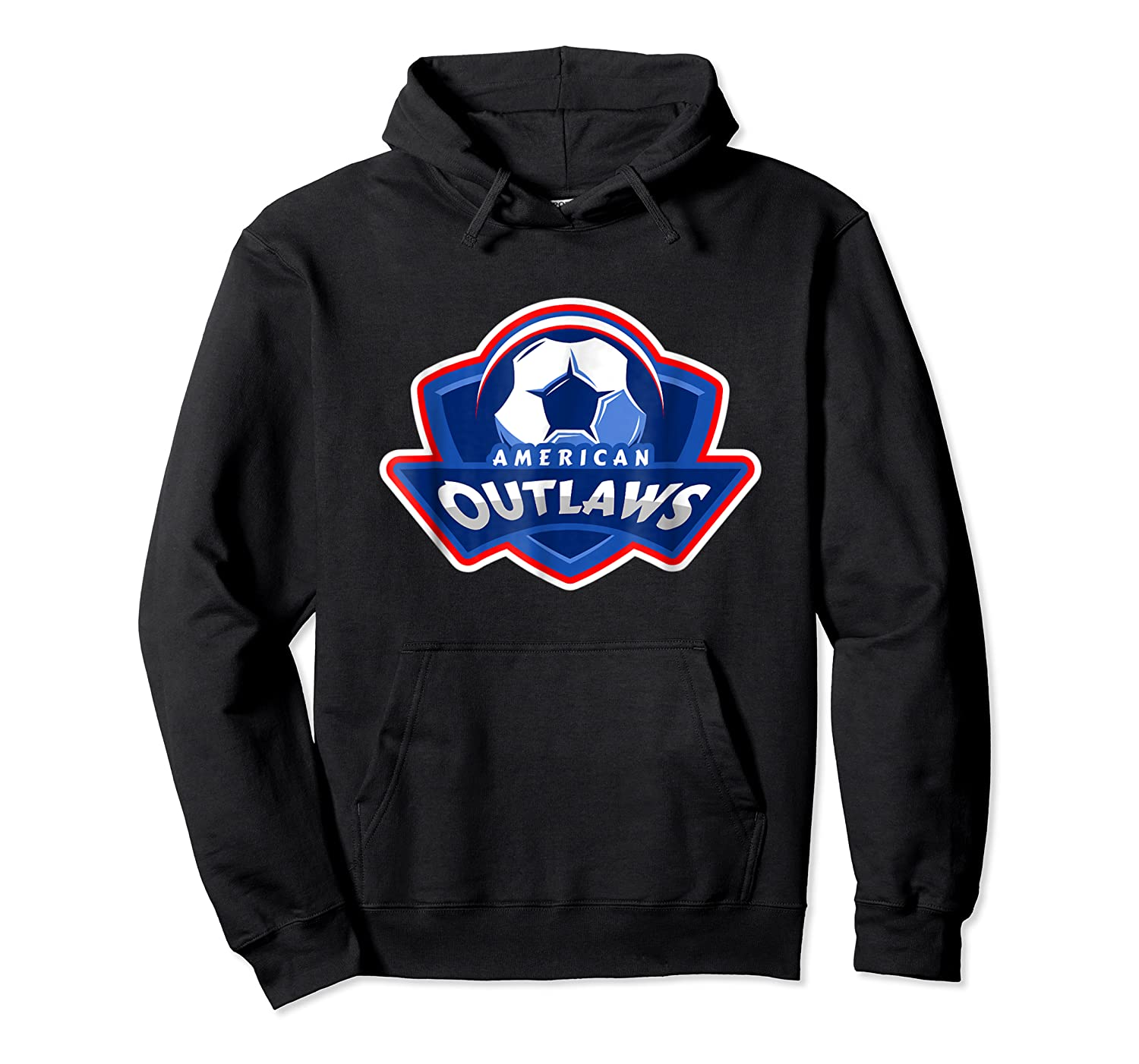 American Outlaw Soccer Game Fan Patriot Shirt Unisex Pullover Hoodie