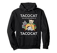 Tacocat Spelled Backwards Is Tacocat Funny Kitty Cat T-shirt Hoodie Black