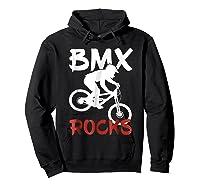 Bmx Riding Rocks T Shirt Cool Dirt Bike Race Stunt Gift Tees Hoodie Black