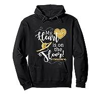 My Heart Is On The Floor Gymnast Mom Gif #gymmom Shirts Hoodie Black
