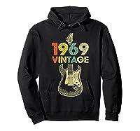Vintage 1969 50th Birthday For Guitar Lover Tshirt T-shirt Hoodie Black