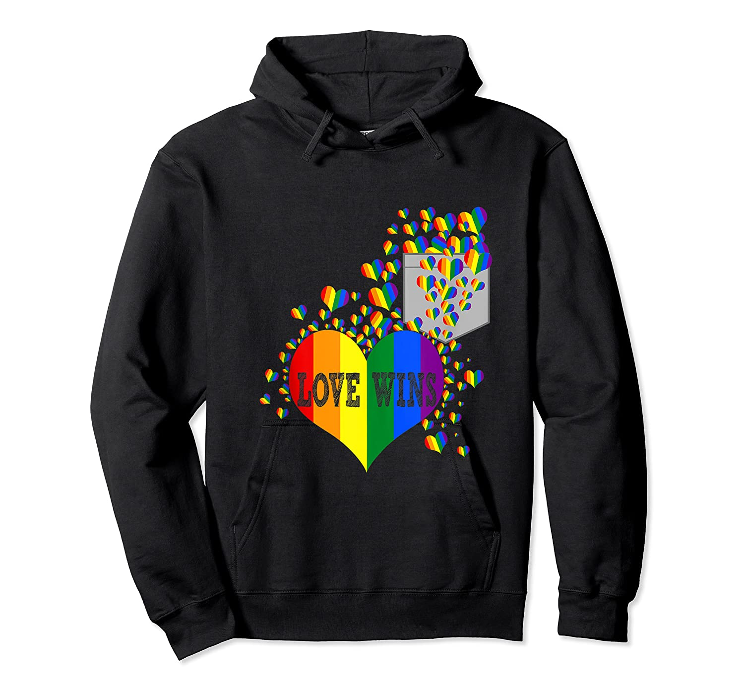 Love Wins Lgbtq Color Heart Pride Month Rally Shirt Tank Top Unisex Pullover Hoodie