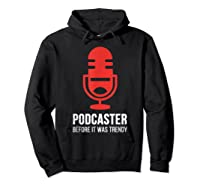 Podcast For Podcasters Funny Podcasting Gift Shirts Hoodie Black
