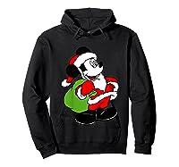 Disney Santa Mickey Mouse T Shirt Hoodie Black