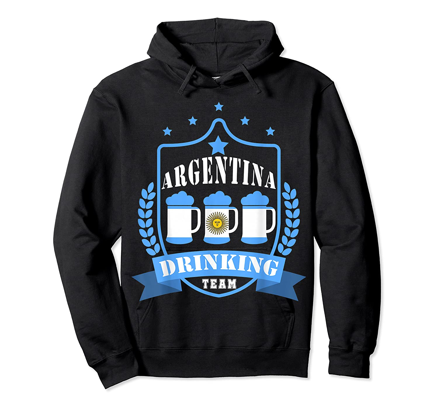 Beer Argentina Drinking Team Casual Argentina Flag T-shirt Unisex Pullover Hoodie