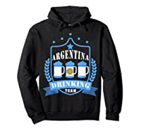 Beer Argentina Drinking Team Casual Argentina Flag T-shirt Hoodie Black