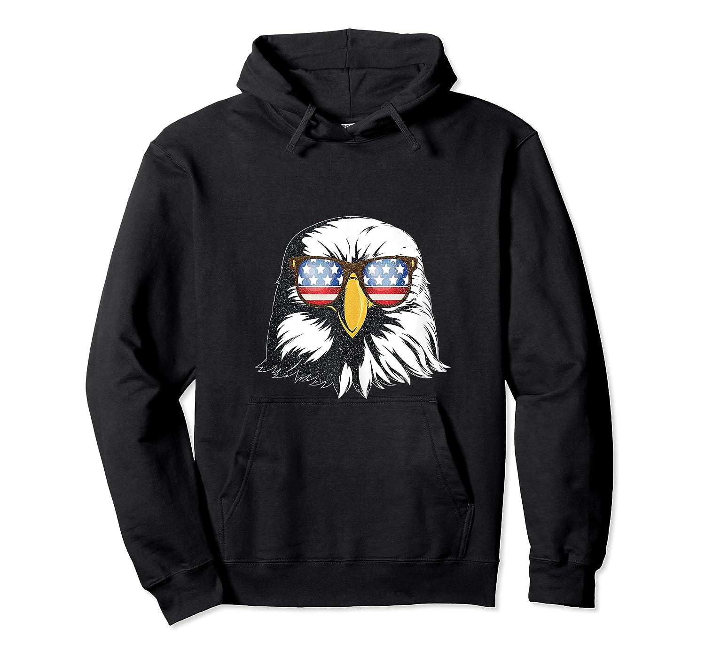 Patriotic Eagle American Flag Sunglasses Freedom Symbol Tank Top Shirts Unisex Pullover Hoodie
