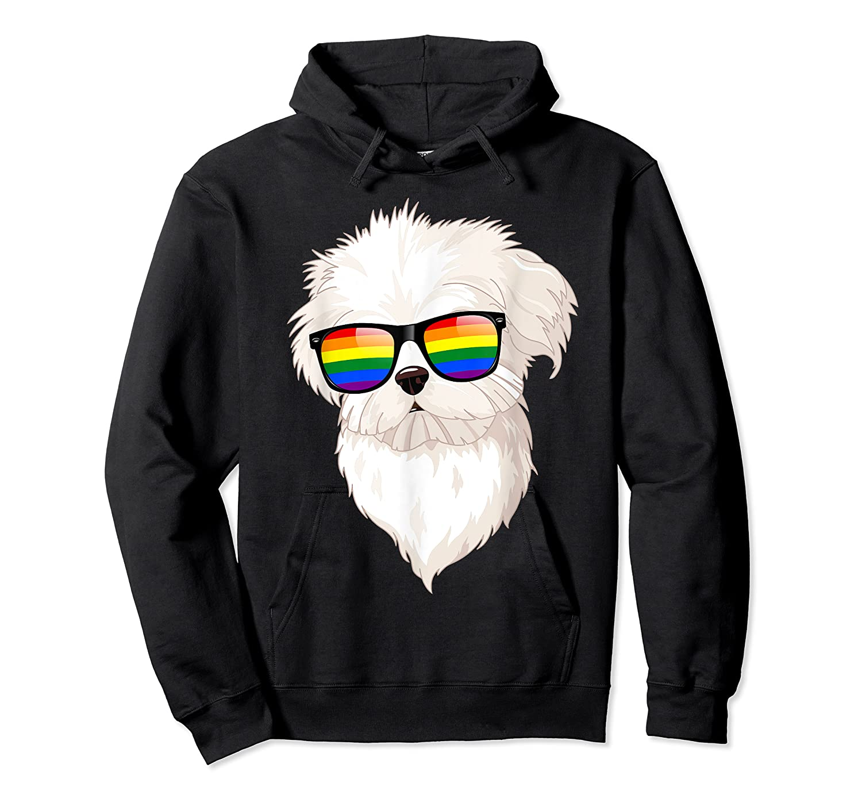 Havanese Face Rainbow Sunglasses Gay Pride Lgbt Tshirt Gifts Unisex Pullover Hoodie