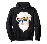 Havanese Face Rainbow Sunglasses Gay Pride Lgbt Tshirt Gifts Hoodie Black