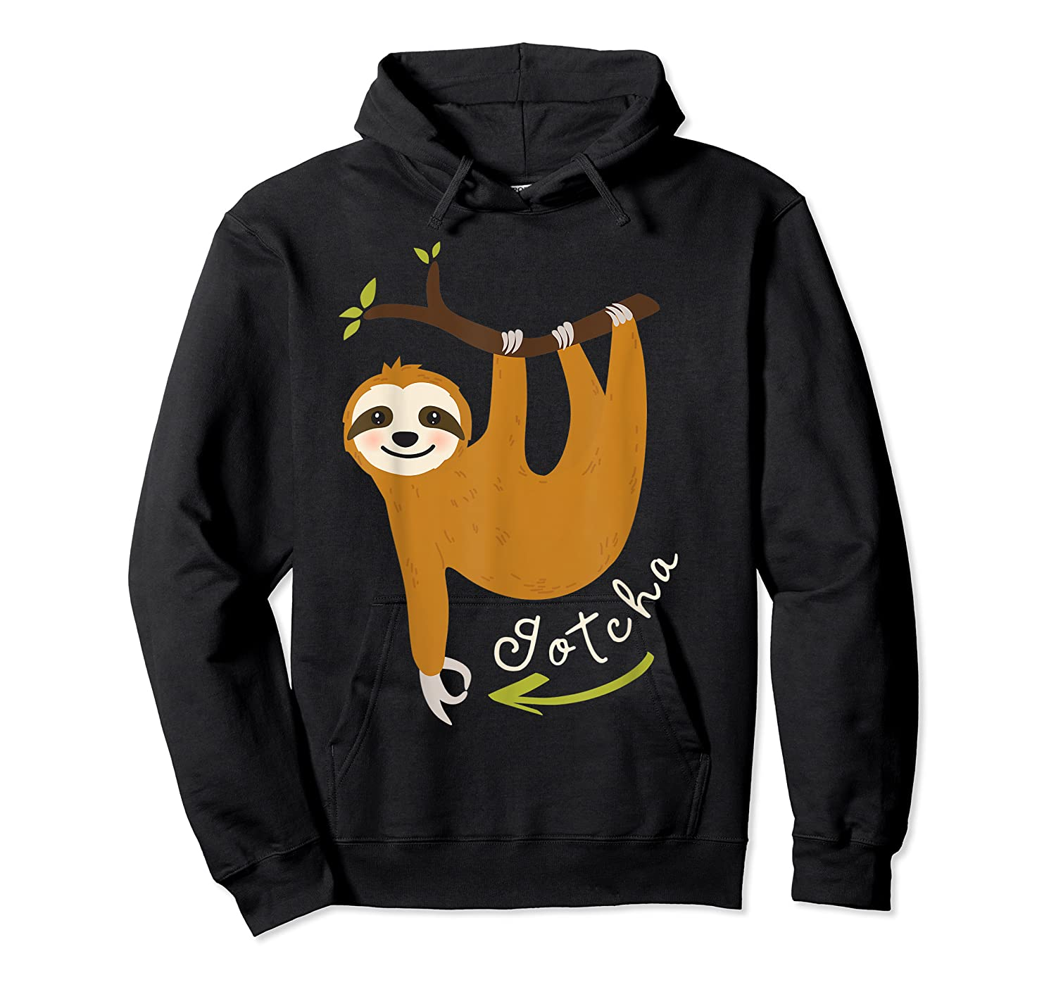 Finger Circle Game Cute Sloth Funny Made You Look Prank T-shirt Unisex Pullover Hoodie