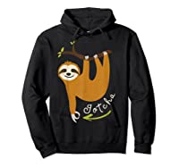 Finger Circle Game Cute Sloth Funny Made You Look Prank T-shirt Hoodie Black