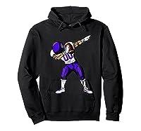 Football Dabbing T Shirt Funny Purple  Hoodie Black