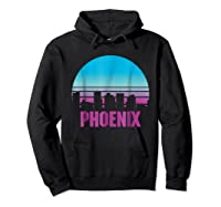 Phoenix City Souvenir T Shirt Retro Arizona Vintage T Shirt Hoodie Black