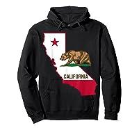 California Bear And Map Cool Gift Shirts Hoodie Black