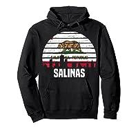 Salinas California T Shirt Ca Group City Silhouette Flag Tee Hoodie Black