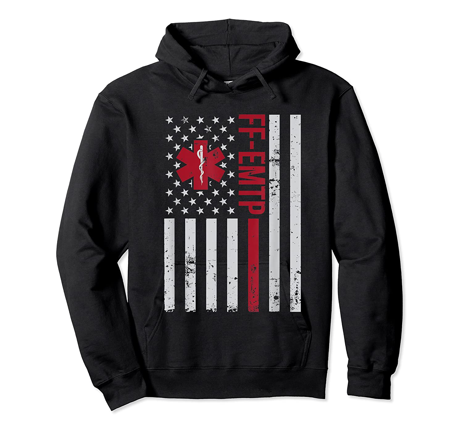 Ff Emtp Firefighter Paramedic Usa Flag Shirts Unisex Pullover Hoodie