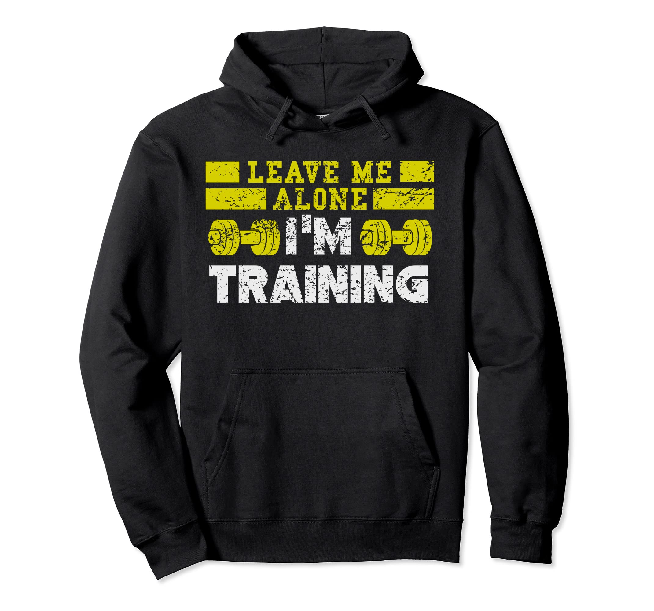 Leave Me Alone I'm Training Funny Gym Workout Hoodie-Colonhue