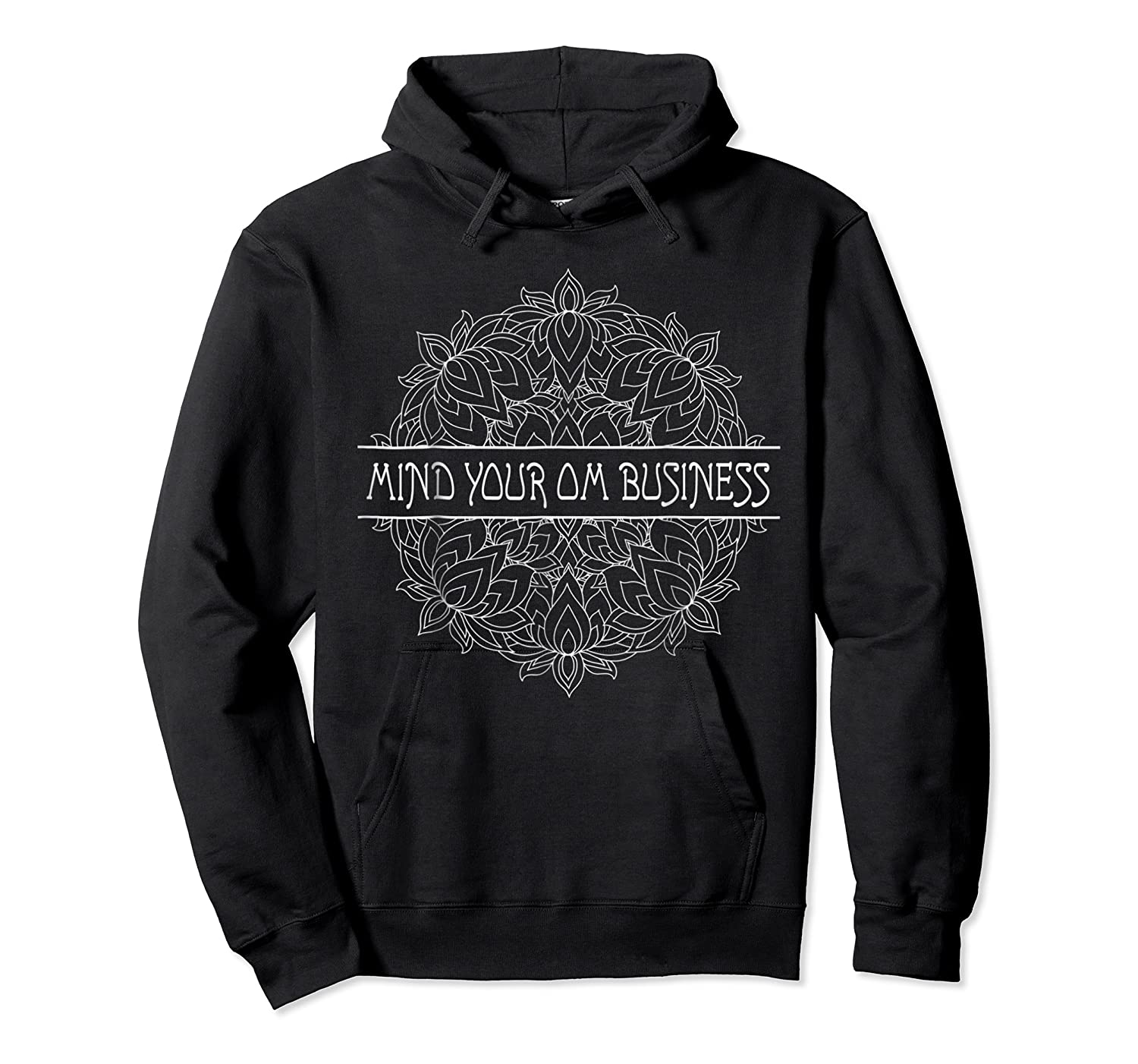 Mind Your Om Business Geometric Graphic Shirts Unisex Pullover Hoodie