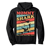 Retro Vintage Mommy Shark Grandma Mather's Day Gifts Shirts Hoodie Black