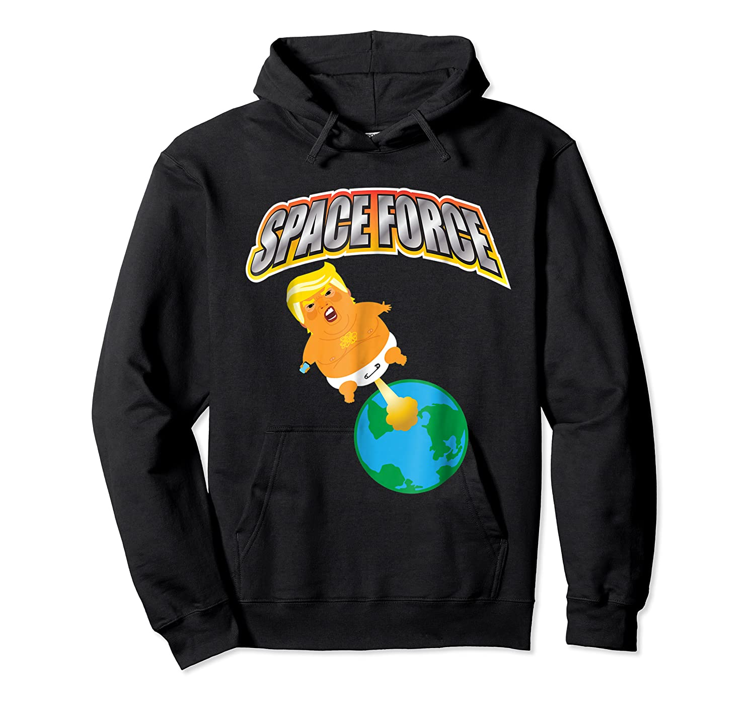Anti Space Force Funny Donald Trump Gift Shirts Unisex Pullover Hoodie