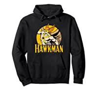 Justice League Hawkman Circle T Shirt Hoodie Black