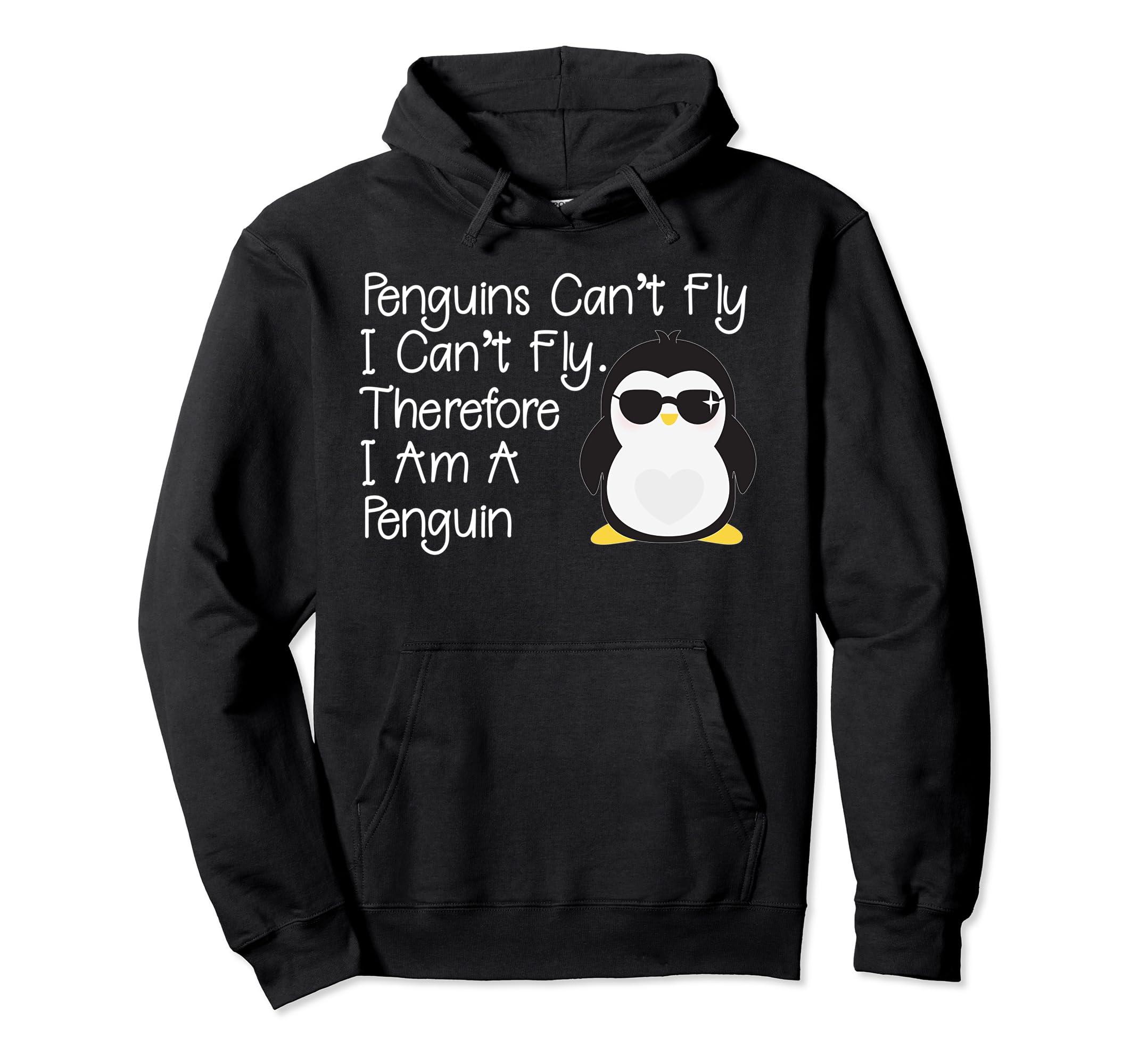Penguins Can't Fly Penguin Hoodie Penguin Pullover-Teechatpro