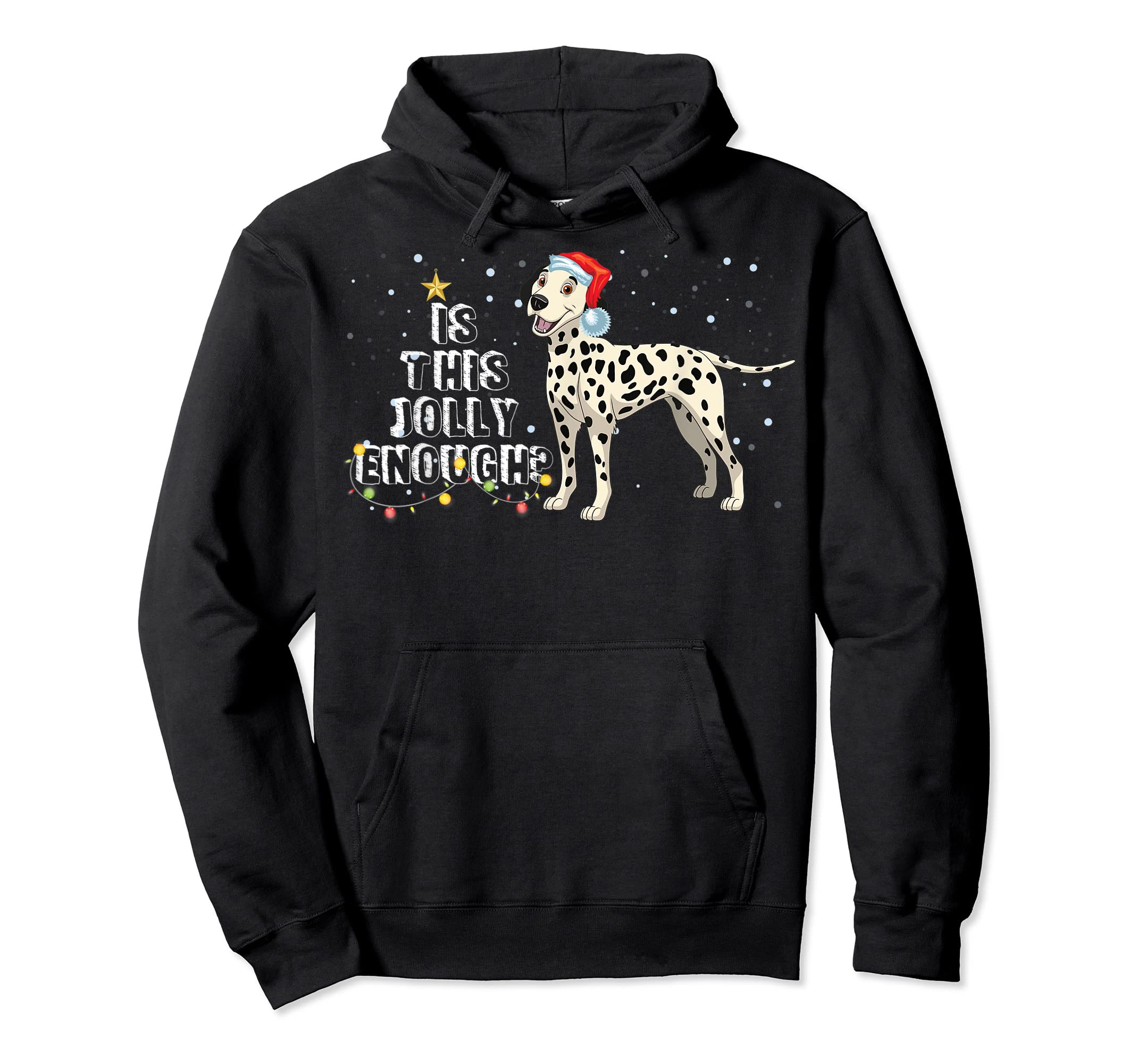 Dalmatian Santa Is This Jolly Enough Christmas Gifts T-Shirt-Hoodie-Black