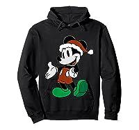 Disney Christmas Mickey Mouse T Shirt Hoodie Black