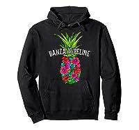 Banzai Pipeline Tropical Pineapple Flower Vacation T-shirt Hoodie Black