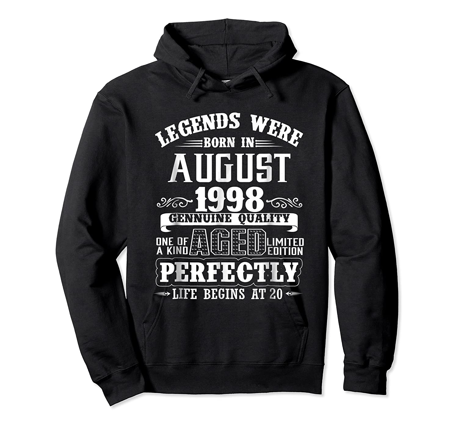 August 1998 20th Birthday Gift Shirt 20 Years Old  Unisex Pullover Hoodie