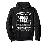 August 1998 20th Birthday Gift Shirt 20 Years Old  Hoodie Black