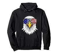 Patriotic Eagle 4th Of July Usa American Flag Sunglasses Premium T-shirt Hoodie Black
