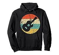 Guitaris Retro Acoustic Guitar Shirts Hoodie Black