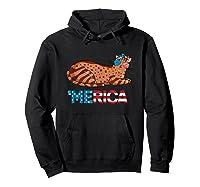 American Flag Arabian Mau Cat 4th Of July Cats Gift Shirts Hoodie Black