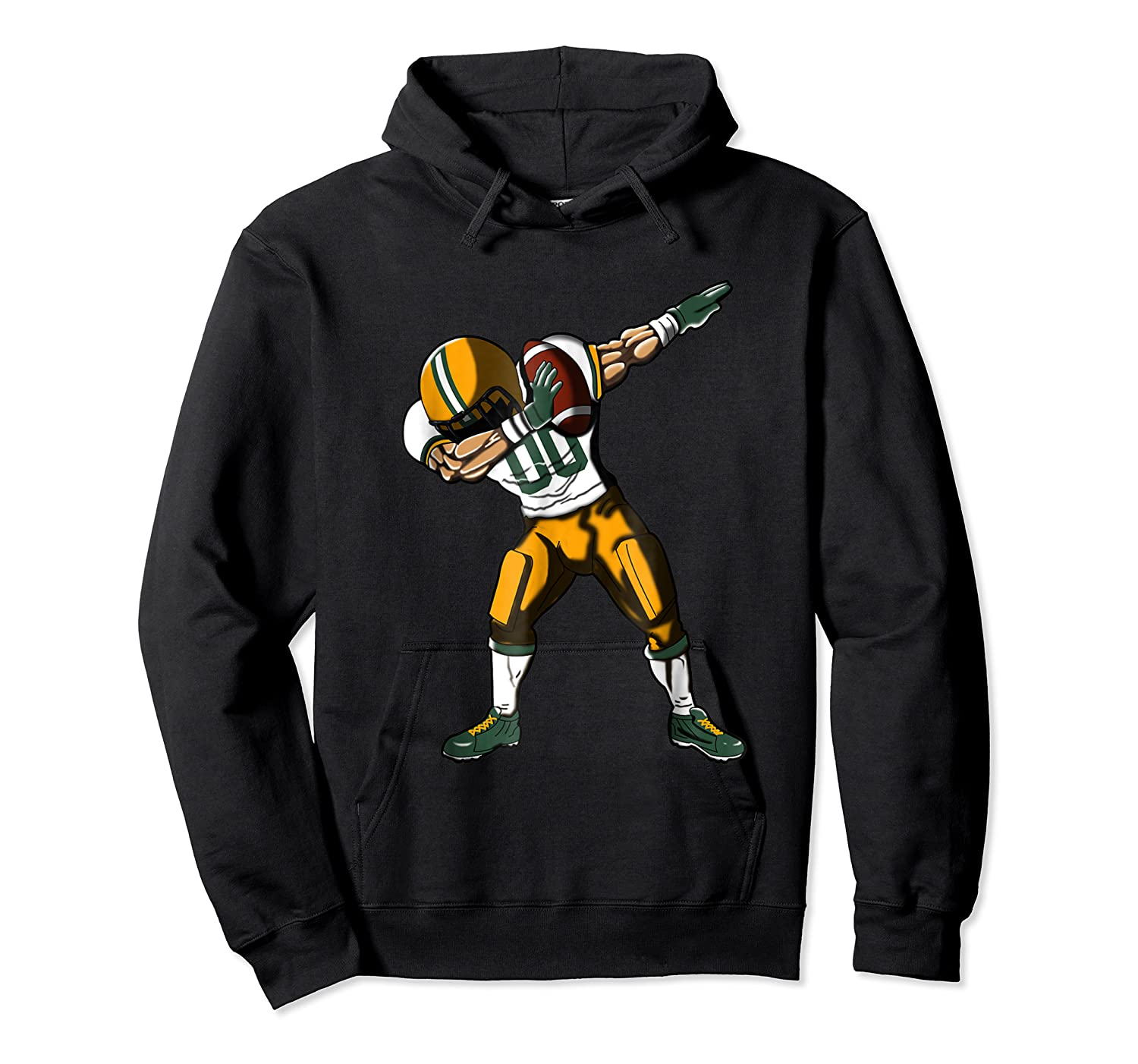 Football Dabbing T Shirt Funny Green Yellow  Unisex Pullover Hoodie