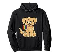 Pride Golden Retriever Dog Gay Lesbian Rainbow Flag Shirts Hoodie Black