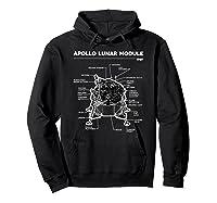 Lunar Module First Moon Landing 1969 T Shirt Hoodie Black