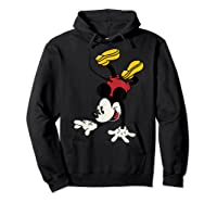 Disney Mickey Mouse Handstand T Shirt Hoodie Black