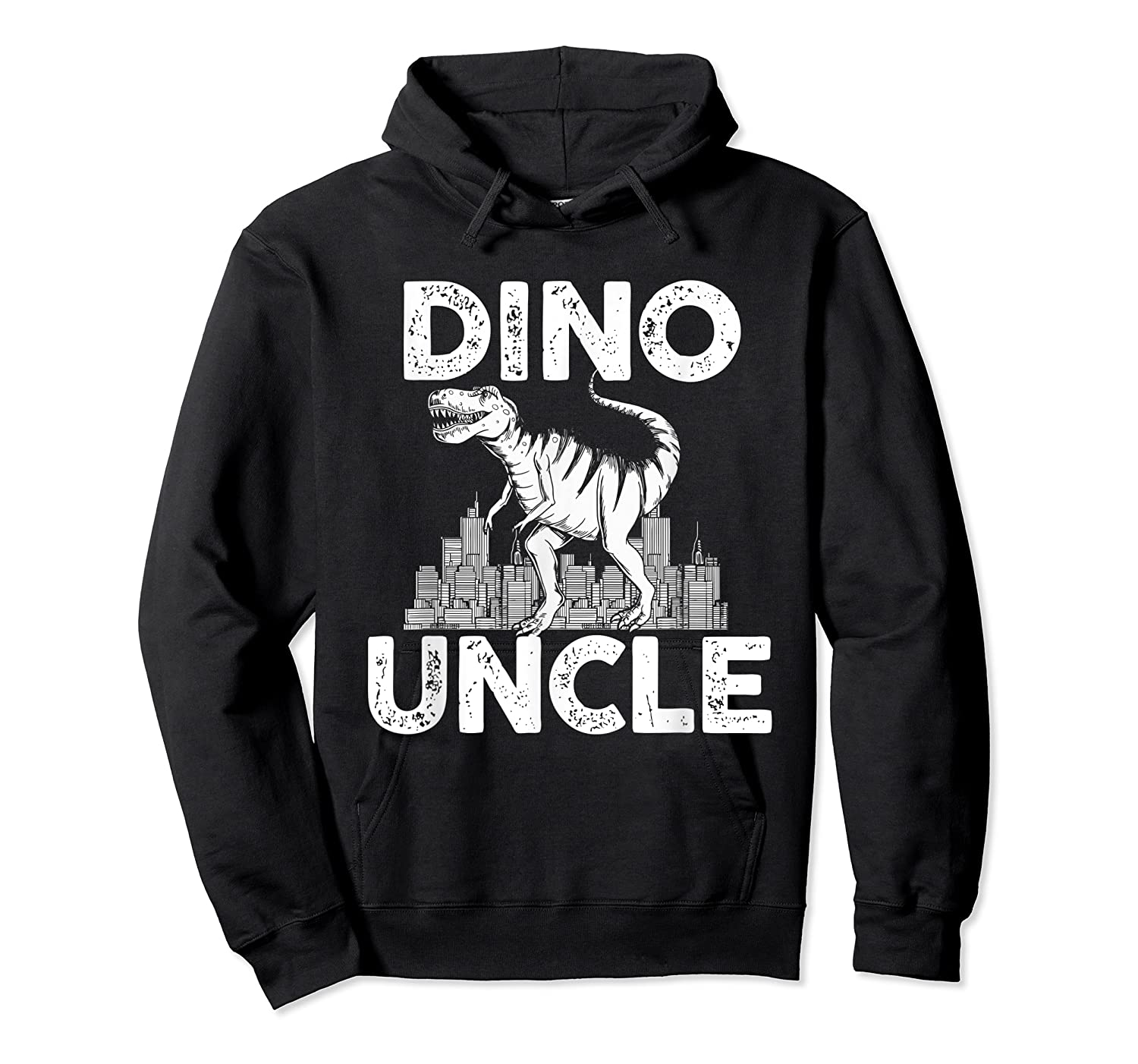 Dino-uncle Dinosaur Family Matching T-shirts Unisex Pullover Hoodie