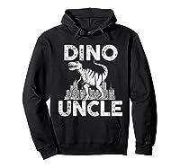 Dino-uncle Dinosaur Family Matching T-shirts Hoodie Black