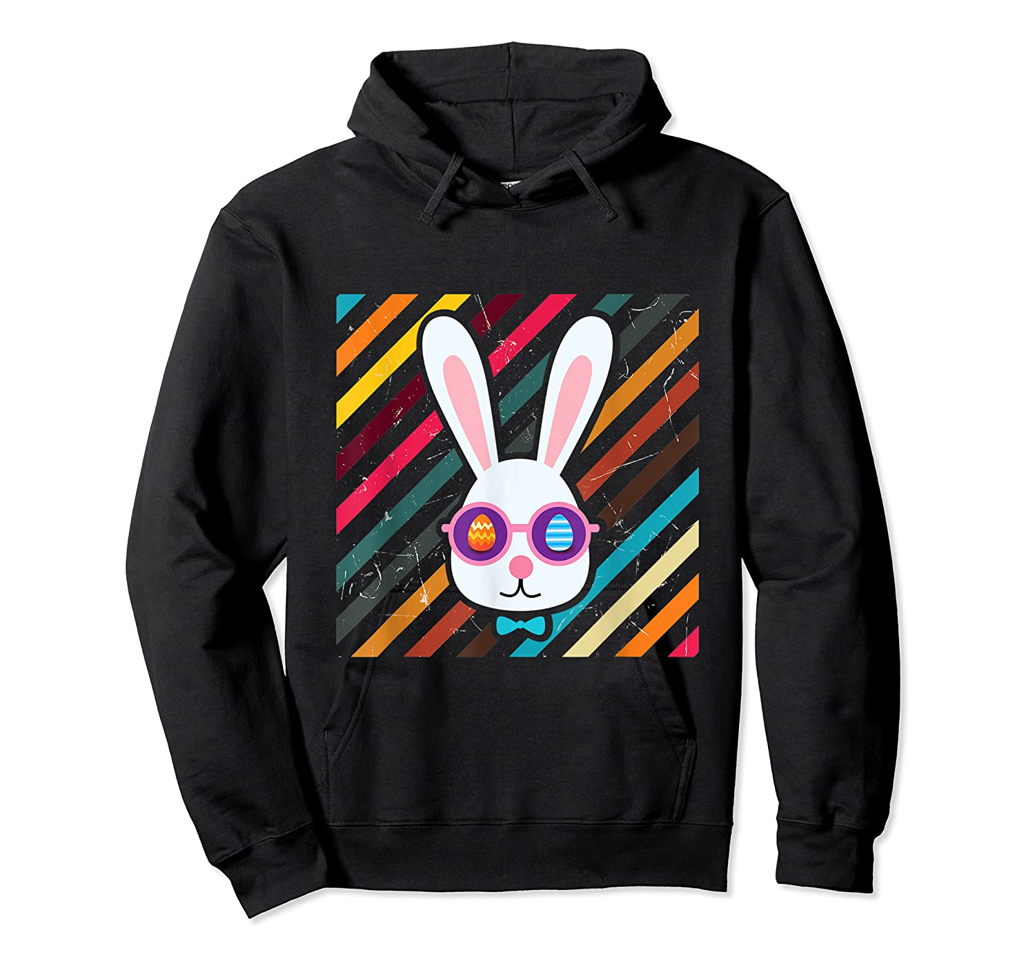 Funny Techno Rabbit Easter Edition Shirt Easter Celebration Unisex Pullover Hoodie