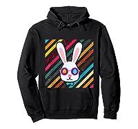 Funny Techno Rabbit Easter Edition Shirt Easter Celebration Hoodie Black