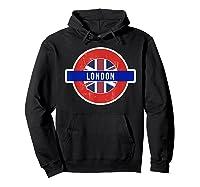 London Uk T Shirt Fun English British City Travel Gift Hoodie Black