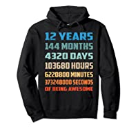 12th Birthday Gift 12 Years Old Being Awesome Shirts Hoodie Black