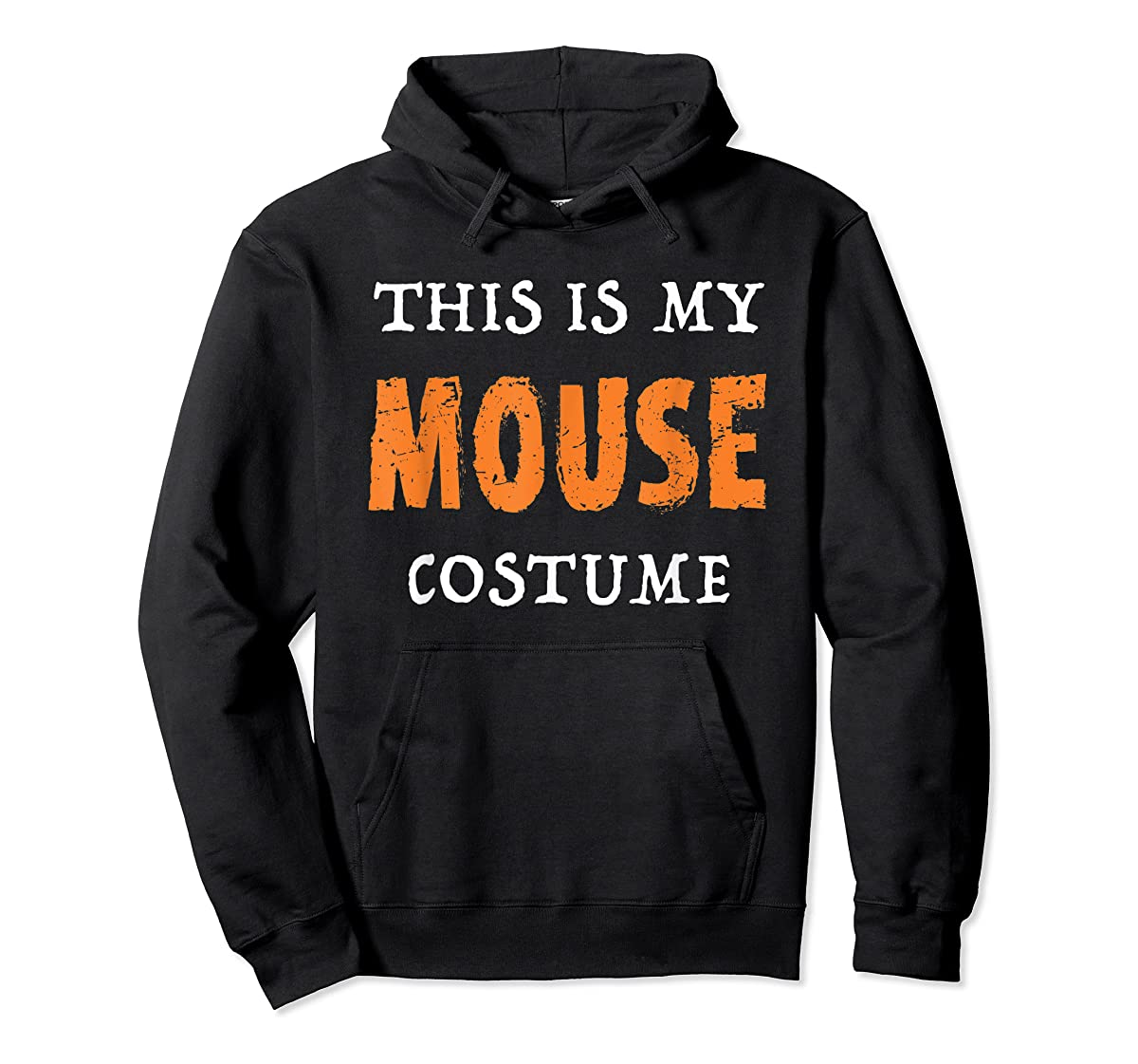 Funny This Is My Mouse Costume Halloween  T-Shirt-Hoodie-Black