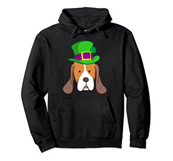 b8c9405a Image Unavailable. Image not available for. Color: St Patricks Day Beagle  Hoodie ...