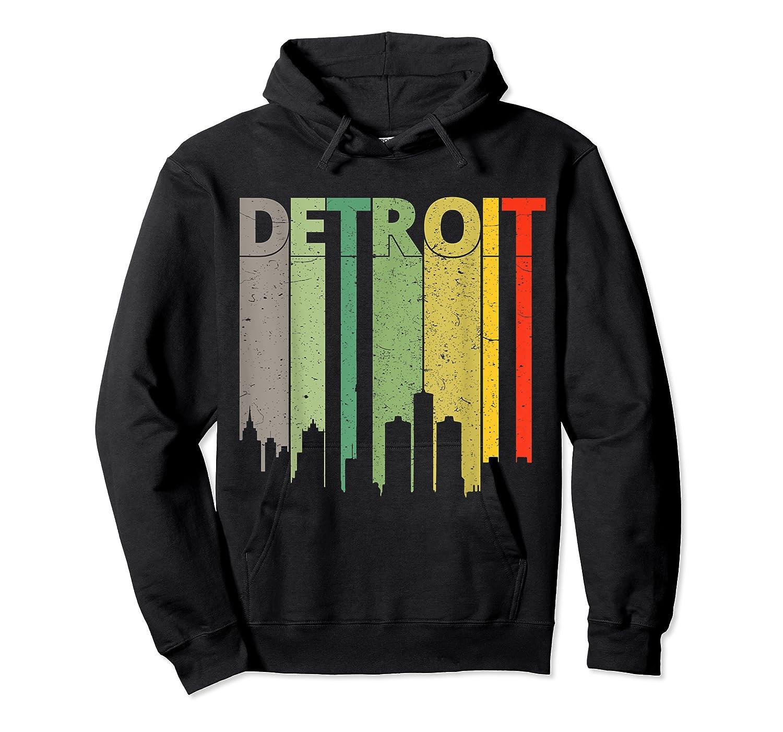 Retro Detroit Vintage Detroit Skyline Shirts Unisex Pullover Hoodie