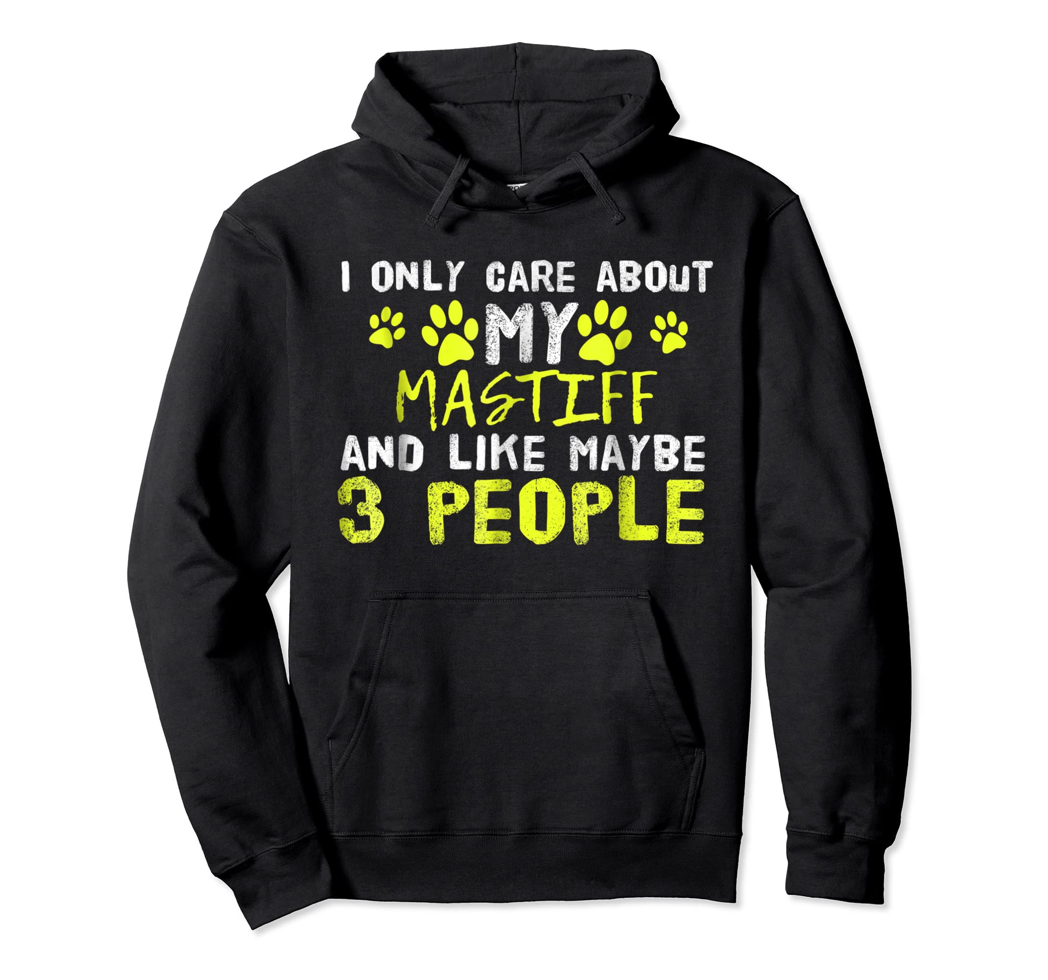 Mastiff Dog Shirt Introvert Love My Dog Tee-Hoodie-Black