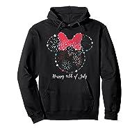 Disney Minnie Fire Works T Shirt Hoodie Black