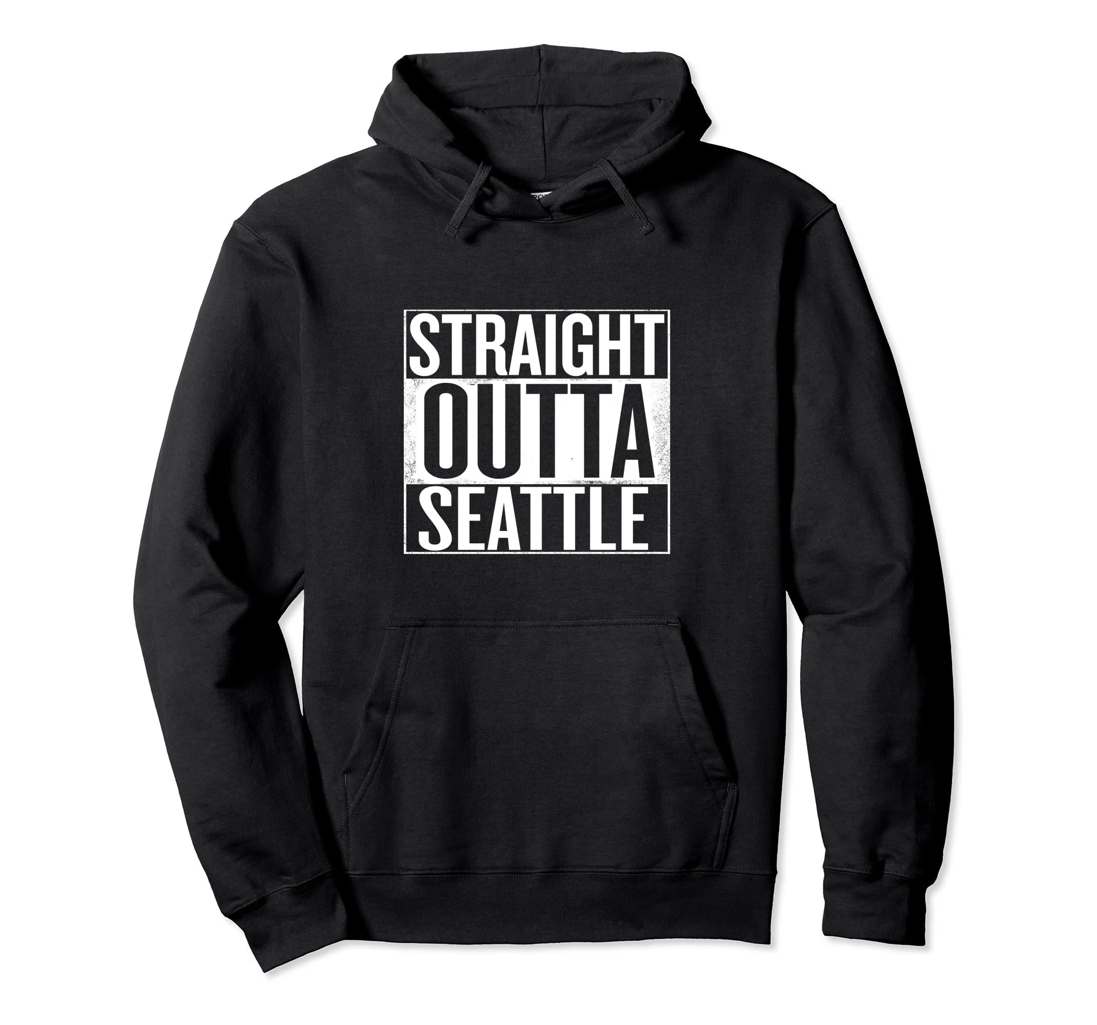 Straight Outta Seattle Hoodie-Bawle
